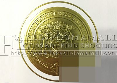 University of Western Ontario embossed seal