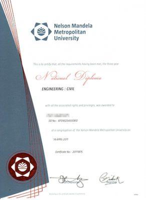 Buy Nelson Mandela Metropolitan University Fake Diploma