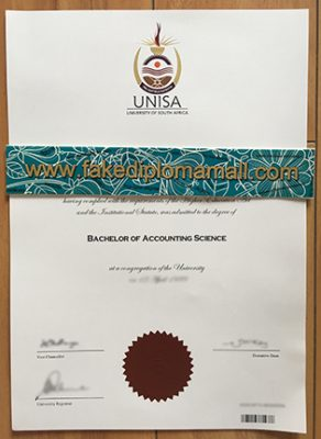 Fake Diploma From University of South Africa, UNISA Degree Sample