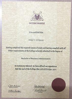 Cyprus International University Degree, Intercollege Diploma