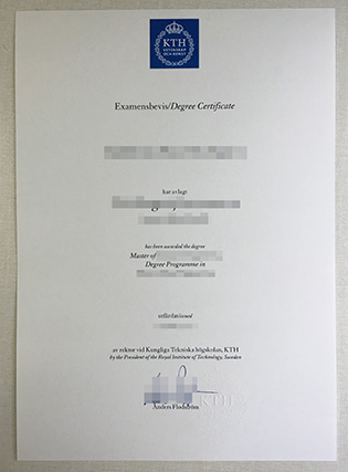 KTH Royal Institute of Technology Fake Diploma Sample
