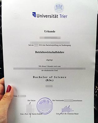 Buy University of Trier Fake Diploma, Universität Trier Degree