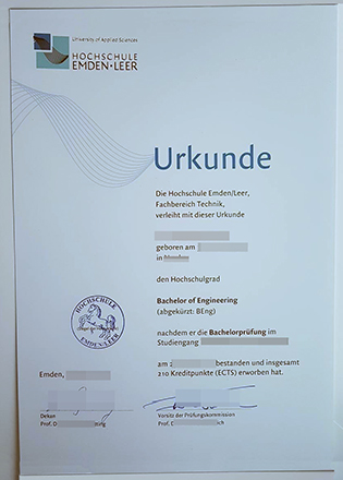 Hochschule Emden/Leer Fake Diploma, University of Applied Sciences Degree