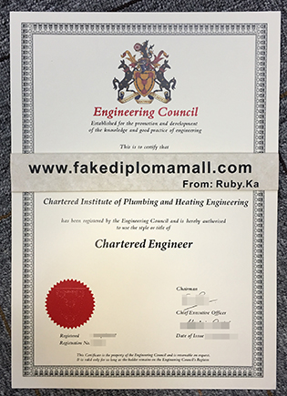 Buy Engineering Council Chartered Engineer Fake Certificate