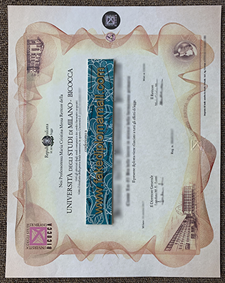 Get A Fake University of Milano-Bicocca Diploma Replica