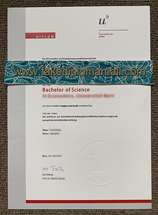 Universität Bern Fake Diploma Sample – University of Bern Degree
