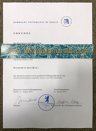 Humboldt University of Berlin (HUB) Fake Diploma Sale Business in Germany
