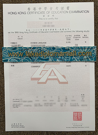 Buy HKCEE Fake Transcript, Hong Kong Certificate of Education Examination Mark Paper