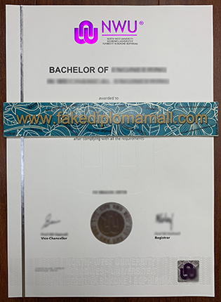 North-West University Degree Sample, Buy NWU Fake Diploma