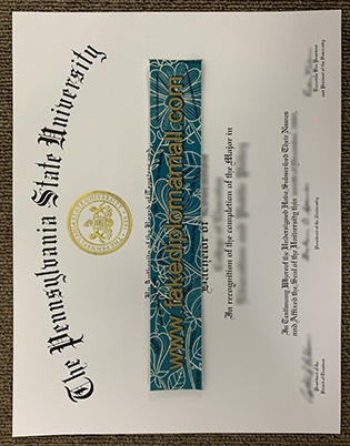 Fake Pennsylvania State University Diploma, Buy PSU Bachelor's Degree Certificate Online