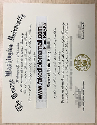 Buy certificate, how to make The George Washington University fake diploma