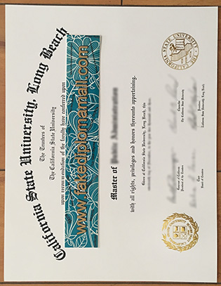 Fake CSULB Diploma – California State University Long Beach Degree Certificate
