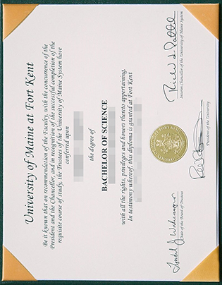 University of Maine Degree, Fake UMFK Diploma Sample