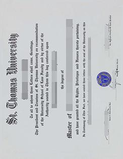 Provide St. Thomas University Fake Degree Certificate Online