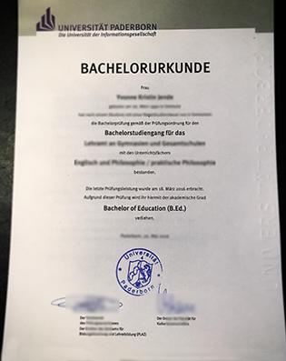 Universität Paderborn gefälschte Diplome, Buy University of Paderborn Fake Diploma