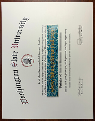 Buy Washington State University Fake Diploma in High Quality