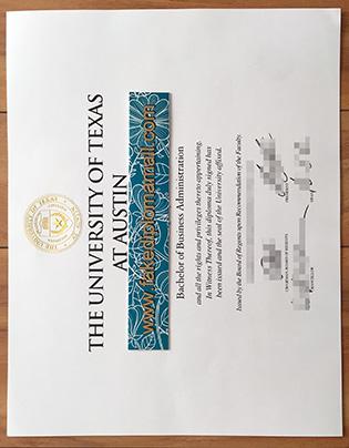 University of Texas At Austin Fake Diploma Sample