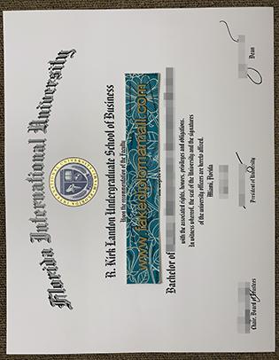 Florida International University (FIU) Fake Degree Sample – FIU Fake Diploma