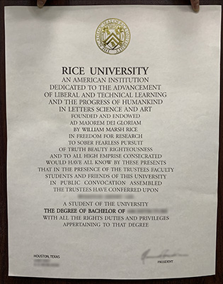 How Does the Rice University Fake Degree Look Like?