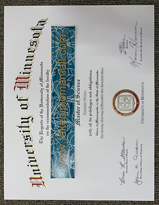Private Methods to Buy UMN Fake Diploma, University of Minnesota Degree Sample
