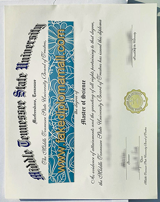 Can I Get Fake Middle Tennessee State University (MTSU) MSc Diploma Online?