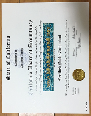 How People Authentic a Fake California CPA Certificate?