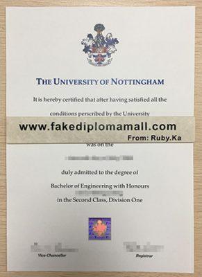 Fake University of Nottingham Degree, How To Buy UK Certificate