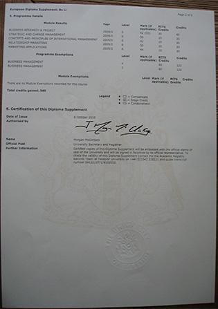 Fake Teesside University Transcript Sample From UK