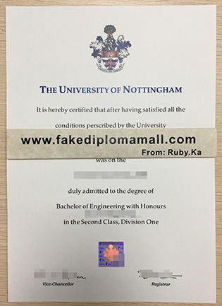 How To Buy A University of Nottingham BEng Degree Certificate?
