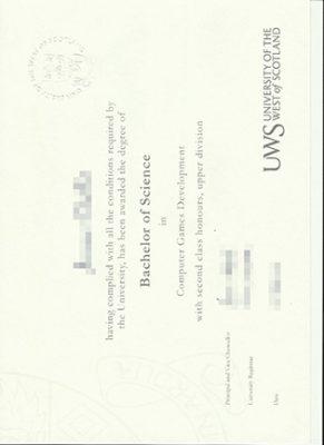 University of the West of Scotland Bachelor Degree, UWS Degree