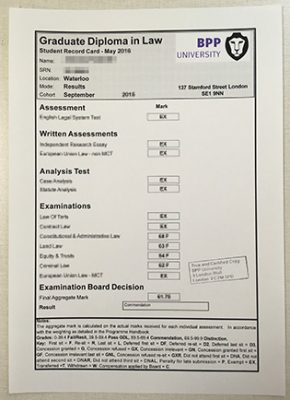 BPP University Transcript, How To Creat?
