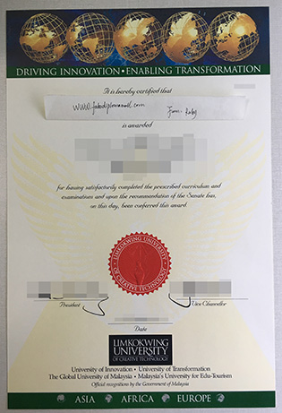 Buy a Fake Diploma Certificate From Malaysia Limkokwing University