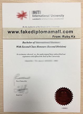 Buy INTI International University Fake Degree Certificate In Malaysia