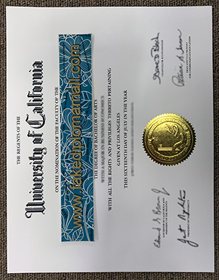 UCLA Degree – University of California, Los Angeles Fake Diploma Sample