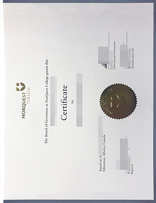 Replica NorQuest College original diploma in Canada