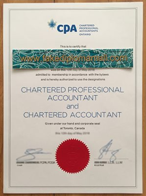 Where to Buy A Fake Canadian CPA  Certificate?