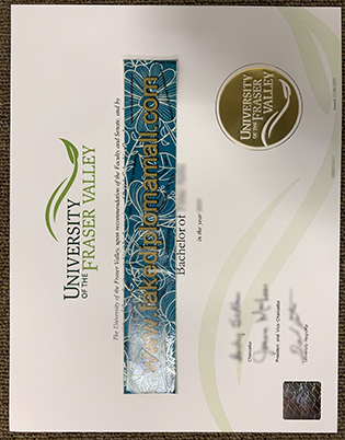 Fantastic Quality of University of the Fraser Valley (UFV) Fake Diploma