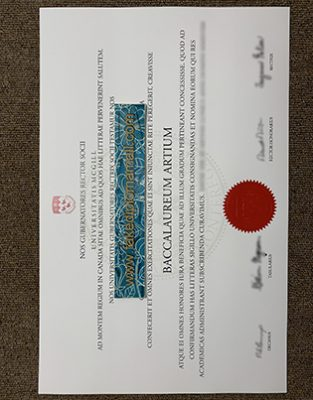 Who Can Make the Fake McGill University Diploma in the Latin Language for me?
