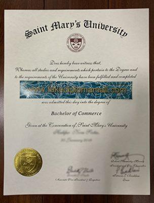 Buy Fake Saint Mary's University (SMU) Diploma, SMU Fake Degree