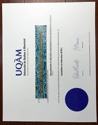 UQAM | Université du Québec à Montréal Fake Diploma