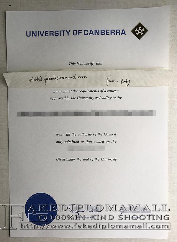 University of Canberra Fake Degree, Where to Buy Australian Degree?