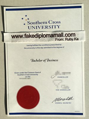 Where to Buy a SCU Fake Diploma, Southern Cross University Degree Sample