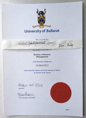 University of Ballarat Fake Degree, FedUni Fake Diploma