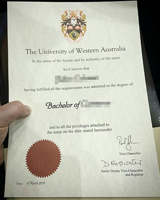 UWA Fake Diploma, The University of Western Australia Bachelor Degree Sample