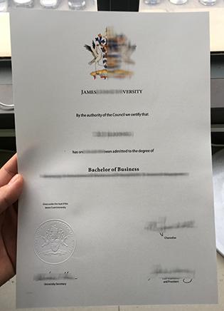 JCU Fake Diploma, James Cook University Degree Sample
