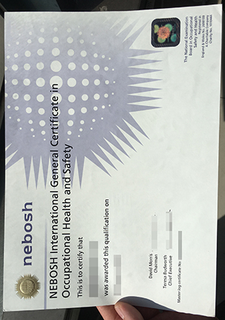 The Highest Quality of NEBOSH IGC Certificate Sample