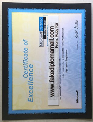 MCSE | Microsoft Certified Systems Engineer Certificate Sample