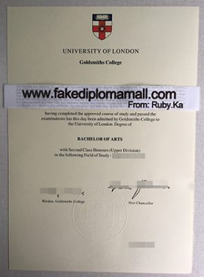 Goldsmiths College Fake Degree Certificate For Sale