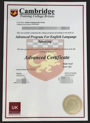 Buy Fake Cambridge Advanced Certificate (CAE Certification)
