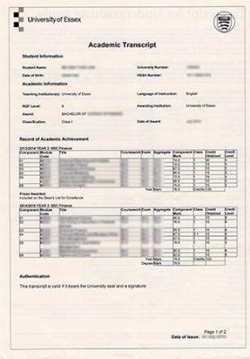 Where to Order University of Essex Fake Transcript?